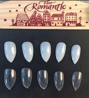 Wholesale 600pcs Natural Transparent White Sharp Artificial Nails Tips Stiletto Acrylic