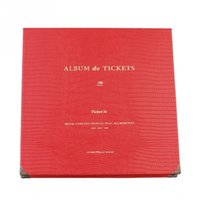 Wholesale Fashion mm DIY Concert Movie Ticket Collection Album Pages PU PP Paper Simple New Colors