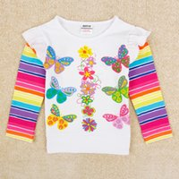 Wholesale New Kids Clothing Girls Baby Hot Long Sleeved T shirts Bestseller Fashion Cotton Lovely