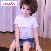 Cheap 100 cm small silicone sex doll real ass silicone head mini love doll Smooth Metal skeleton middle plain bust lifelike vagina