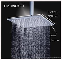 Wholesale 12 inches brass high quality rain shower head with shower arms