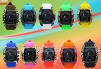airs fashion watches - Mix Colors Watches Fashion Cool Flash LED Digital Watch Air Race Sports Silicone Led Electronic Binary Watch RW024