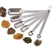 Wholesale 200sets in Narrow Spice Measuring Spoons Nesting Set Of Endurance Stainless Steel Measuring Spoons