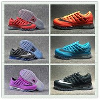 Wholesale Cheap Light Up Shoe Laces - Hot Sale Mesh Knit Air Sportswear Men Women Max 2016 Running Shoes Cheap Sports Maxes Trainer Sneakers With Box Size US5.5--11