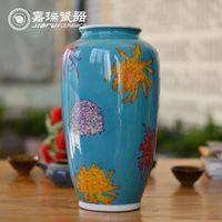 achat en gros de ceramic and porcelain vase-Old fine Vase en porcelaine à la main chinoise Peinture table vase en céramique blanche Arts vase et ornements Artisanat Décoration