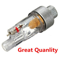 airbrush tanning spray gun - New High Quality ABS Copper Core Airbrush Mini Air Filter Moisture Water Trap quot Fittings Hose Paint for Paintwork Spray Guns