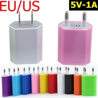 Wholesale Hot Genuine V A A1400 Flat EU US AC USB Wall Charger Travel Adapter For iPhone S Plus iPod For SAMSUNG MP3