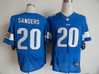 Wholesale Personalized Men s Detroit Lion Custom Elite Football Jerseys High Quality Stitched Custom Any Name Number blue white jerseys free ship