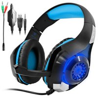 Wholesale Gaming Headset for PS4 PSP Xbox one Tablet iPhone Ipad Samsung Smartphone Led Light GM Headphone with Adapter Cable for PC
