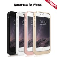 Wholesale 5800mAh portable battery case For iPhone s External Battery Backup Charging Bank Power Case Cover