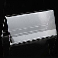 acrylic name holder - 4pcs High Quality cm V Triangle Acrylic Name Card Label Holder Conference Seat Name Sign Display Stand Table