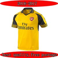 Wholesale Best quality Arsenal kit jersey away yellow Arsenal set MONREAL WILSHERE GIBBS GIROUD Football Shirts