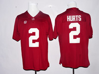 best college football jersey - Hot Sale Jalen Hurts Jersey Alabama Crimson Tide College Jalen Hurts Football Jerseys Home Red Away White Men Breathable Best Quality