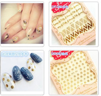 accessories for nail art designs - 3D Nail Art Stickers Nail Decoration Design Brand Foils Beauty Stickers For Nails Accessories Decals Tool