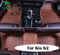 Wholesale Top Quality D Car Floor Mat For Kia K2 Foot Mat Car Foot Pad Colors Left Hand Driver Drop Shipping KF A2210