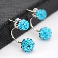 Wholesale High Quality Hot Sales Women s Girl s Elegant Fashion Plating Alloy Artifical Diamonds Earrings