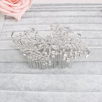 america hair products - New Pattern Bride Headwear Hair Comb Ornaments Europe And America High Diamond File Hair Comb Competitive Products Alloy Marry Accessories