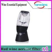 Wholesale 1pcs NEW Magic Wine Decanter Set Wine Essential Equipment with bag hopper filter Red Wine Aerator Filter YX XJQ