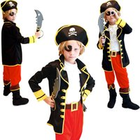 Wholesale Children S Clothing For Girls - Pirates of The Caribbean Kids Boys Halloween Costumes Cosplay for Boys Children Cosplay Clothing Girl Costumes