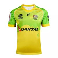 australia jersey rugby - Rugby NRL AUSTRALIA RUGBY SEVENS Jerseys Top Polyster Quality Men SEVENS Australia Shirts QANTAS green yellow color Rugby jerseys
