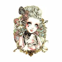art doll patterns - 1PC Cute Waterproof Painted beauty Body Art Tattoo waterproof sticker Baby Doll Pattern temporary Skin Tags cm