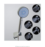 Wholesale new function Shower Head ABS With Chrome Plated Bathroom Hand Shower Water Booster Showerhead ducha chuveiro