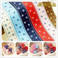 anchor grosgrain ribbon - mm quot mm quot printed star anchor anchor grosgrain ribbon multicolor DIY manual knot hair accessories yds per