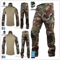 Cheap New Woodland Emerson Gen2 Combat uniform Tactical gear shirt and pants Army BDU Suits free shipping