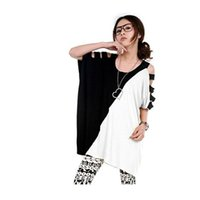 Wholesale Maternity clothing color block oversized t shirt maternity long design t shirt