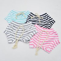 Wholesale 2016 Summer Baby Shorts INS Kids PP Pants Newborn Baby Infant Clothing Striped Pants Shorts Leggings Children Clothes Kids Harem Pants Hot