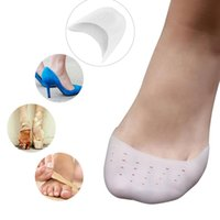 Wholesale One Pair Ballet Shoe Covers High Heels Pointed Toes Set Silica Gel Protective Sleeve White