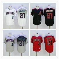 arizona hot - Hot Arizona Diamondbacks Zack Greinke Jersey Stitched Newest Curt Schilling Baseball Jersey Gray White Red Black Best Quality
