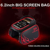 Wholesale Save fast shipping promend inch screen hard material waterproof front and top tube bicycle bag