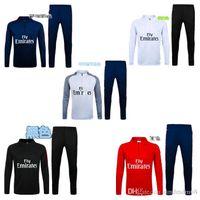 best active wear - 16 Training Wear Soccer tracksuits Best quality survetement football training suit sweat soccer jogging football