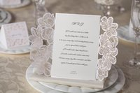 Wholesale Wedding Invitations Cards Personalized Floral Wedding Cards Invitations Printable Wedding Invitations Laser Cut Greeting Cards vcb6u