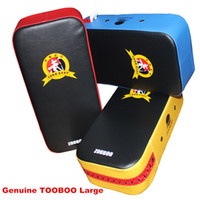 Wholesale Yellow Black Kick Boxing Pad Punching Bag Foot Target Mitt MMA Sparring Muay Thai Boxing TKD Training Gear Punching FREESHIPPING