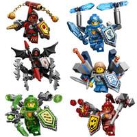 aaron plastics - 2016 Nexo Knights ULTIMATE Clay Macy Aaron Robin Beast Master Lavaria Marvel Building Blocks Kits Toys Minifigures Compatible Legoe