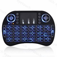 Wholesale Wireless Backlight Keyboard Rii Mini i8 G Air Mouse Media Player Remote Control with Touchpad for Android TV Box S912 S905X S812 S805 P