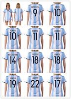 afa soccer - 16 New national team Messi Women Soccer Jersey Thai Quality AGuero Soccer Shirts DI MARIA AFA Womens Football Jerseys
