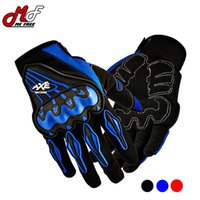 axe motocross - AXE Guantes Motorcycle Gloves Full Finger Motorbike Gloves Guanti Luva Moto Motocicleta Motocross Gloves Red Blue Black M L XL