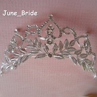 big hair photos - Luxury Big Crown New Arrival Real Photos Glass Crystal Rhinestone Bridal Wedding Crowns Hair Accessories Occassion Party Beauty Crown