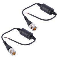 Wholesale 2pcs CCTV Camera UTP Single Channel Passive Transceiver CAT5 BNC Video Balun Transceiver