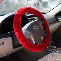Wholesale wholesales Spoke Wheel covers Interior Accessories Steering Wheel Covers Antifreeze plush steering wheel