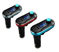 Wholesale Bluetooth Handsfree Speaker Car Player MP3 Dual USB Charger mm AUX Input FM Transmitter with Mic