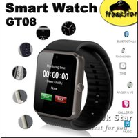 Wholesale gt08 Smart Watch wear smartwatch Bluetooth gps tracker heartrate child trackers For android Apple IOS With retail box