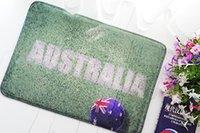 australia american football - Square and Cartoon Absorbent Grass And Football AUSTRALIA Pattern Sponge Foreign Trade Living Room Bathroom Anti Skid Printing Lawn Carpet