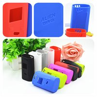 alien case - Smok Alien w Silicone Case Colorful Rubber Sleeve Protective Cover Skin For SmokTech Alien TC Box Mod Kit Vape