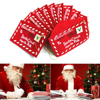 Wholesale 2016 New Christmas decoration For Home Envelope cloth Christmas Cards Candy Bag Decorations Christmas gifts best wishes