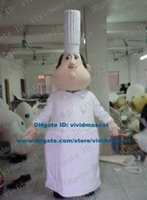 baker clothing - Talented Flesh Pink Cook Chef Kitchener Baker Mascot Costume Cartoon Character Mascotte Adult White Clothes Fat Belly ZZ843 FS