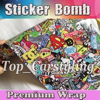 bbs style - JDM style Stickerbomb Vinyl WRAP Real Logos BBS Smile STICKER BOMB With Air Free Car Wrap Styling Graphics x10 m